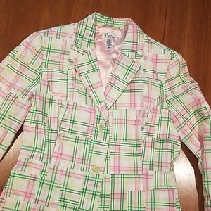 Rare patchwork lilly Pulitzer lined blazer